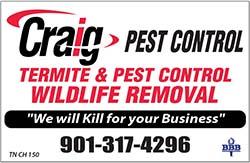 Craig's Pest Control Gold Star Vendor